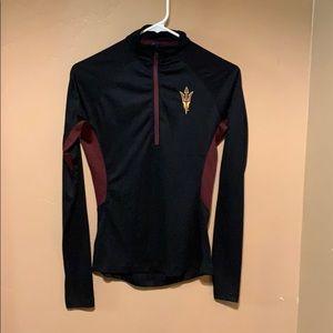 NWOT ASU Sun Devils workout zip tee. Workout shirt